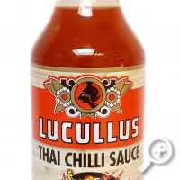 Thaise Chillie Saus , zoet pikant met knoflook (nr. 1 chillie Saus) , lucullus