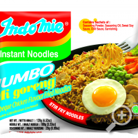 Indomie Mi Goreng Barbeque Chicken Flavour Fried Noodles JUMBO , Lucullus